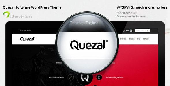 Quezal v2.3.1 - Software Responsive WordPress Theme