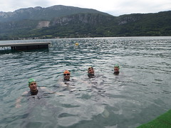 Swimming across Lake Annecy Image