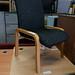 Beech framed charcoal reception chair