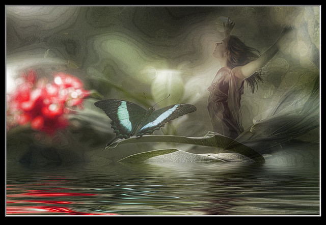 Photo artistry - butterfly pose