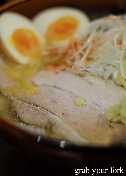 Misono pork rib char siu at Sapporo Ramen Kyowakoku or Sapporo Ramen Alley, Hokkaido
