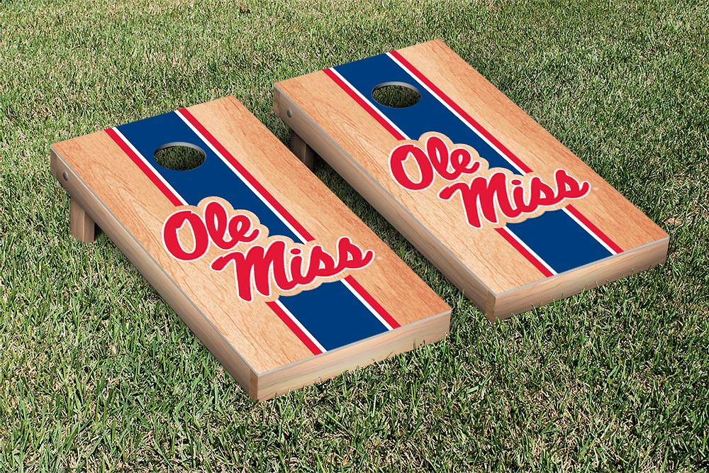Ole Miss Rebels Hardcourt Stained Stripe Version