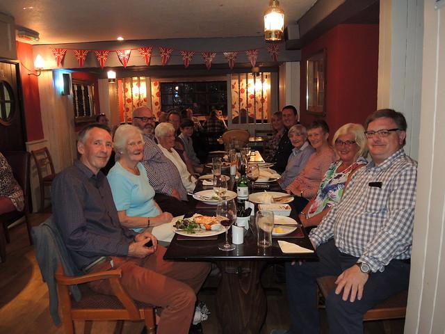 Celebration dinner at The Ship, Sandside