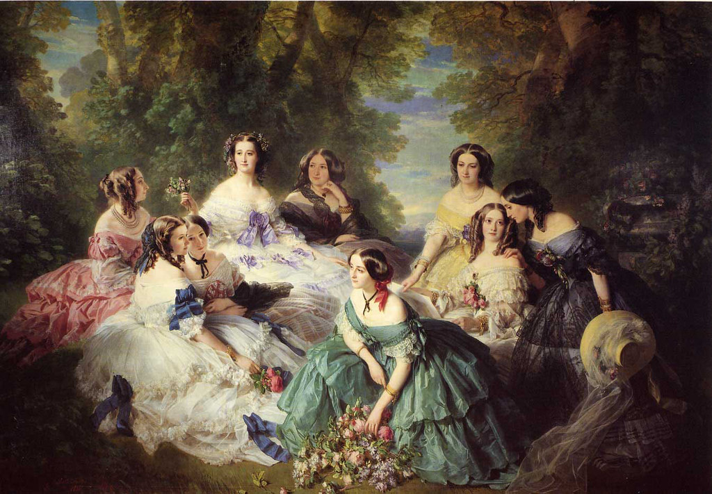 The Empress Eugenie Surrounded by her Ladies in Waiting