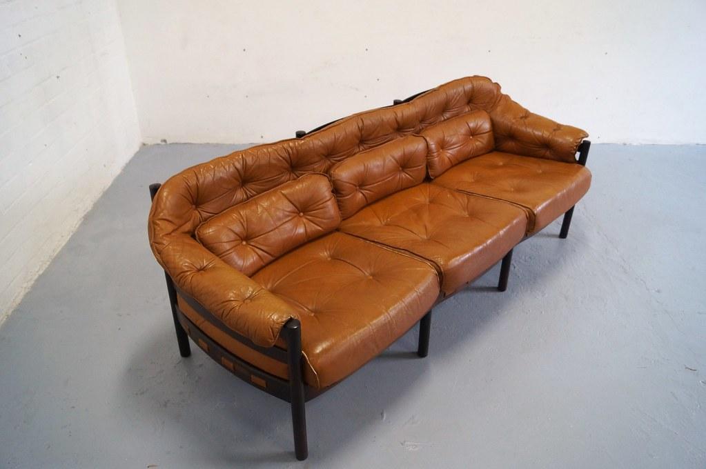 Vintage arne norell bank sofa jaren 50 60 bankstel deens design