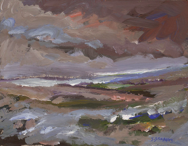 Moorland Study - Acrylic Painting by Steve Greaves