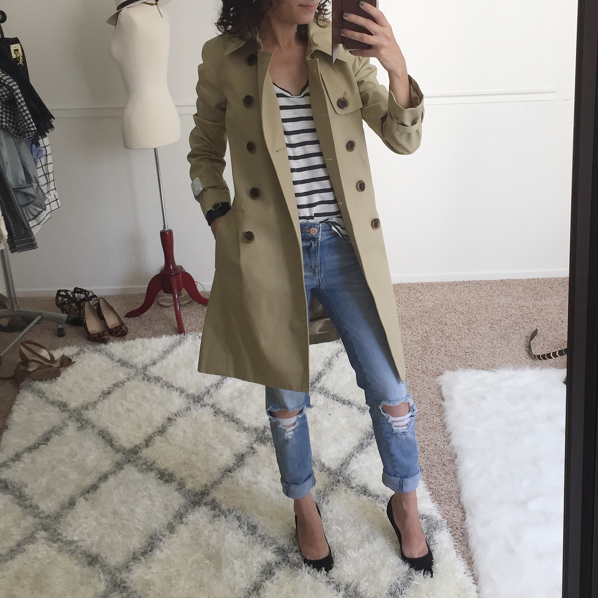 Perfect petite trench coat review