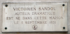 Photo of Victorien Sardou marble plaque