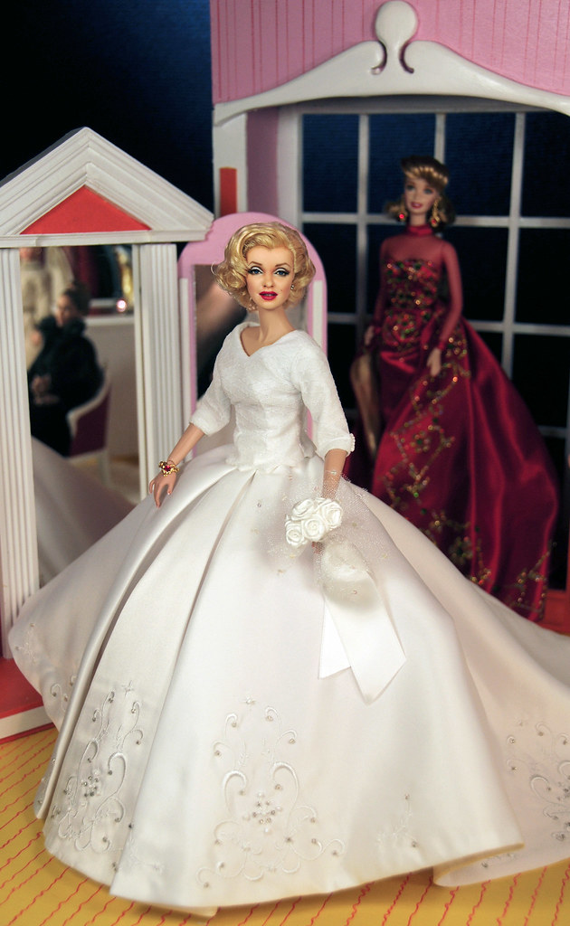 Wedding Dress Monroe A Marilyn Monroe Barbie Repainted