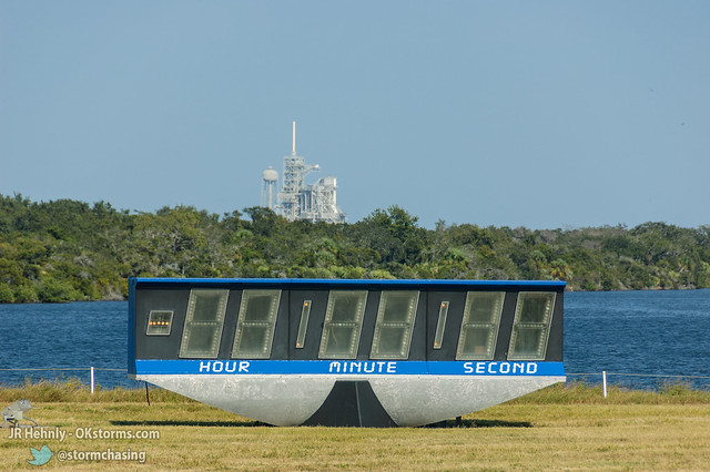 Thu, 11/01/2012 - 15:17 - NASA's famous Countdown Clock, with Launch Pad 39A visible in the distance. - November 01, 2012 3:17:22 PM - Titusville, Florida (28.5822,-80.6453)