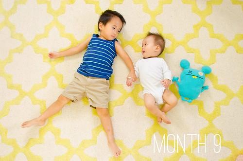 Oliver & Elliot - Month 9