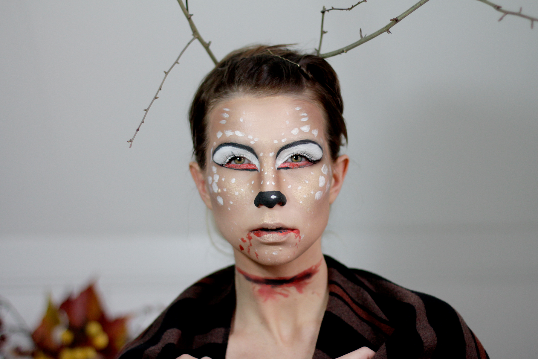 halloween bambi deer make up styling idea tutorial how to schminken grusel scary cats & dogs beauty blog beautyblogger ricarda schernus 4