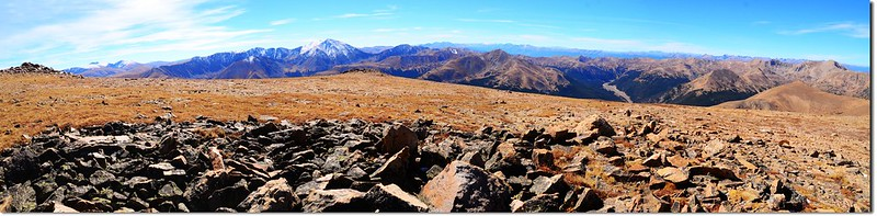 Panorama from the summit of Mount Parnassus(SE to W) 1