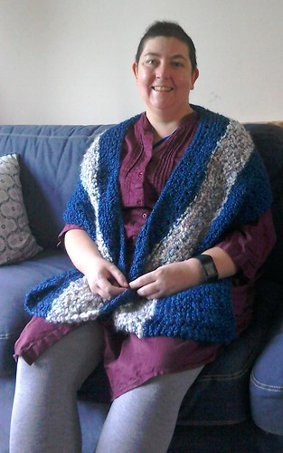 Showing off new shawl