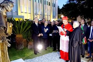 Noicattaro. Inaugurazione Statua Sant'Agostino front