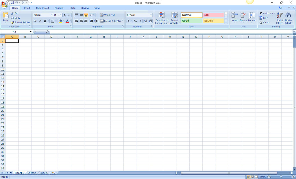 Excel 2007 Interface