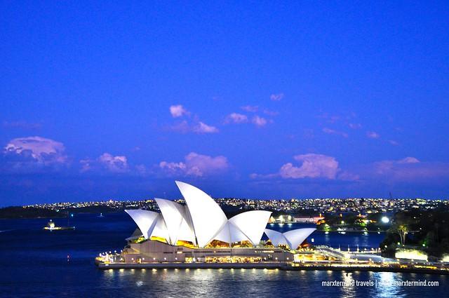 Sydney Opera House as Seen from Harbour Bridge