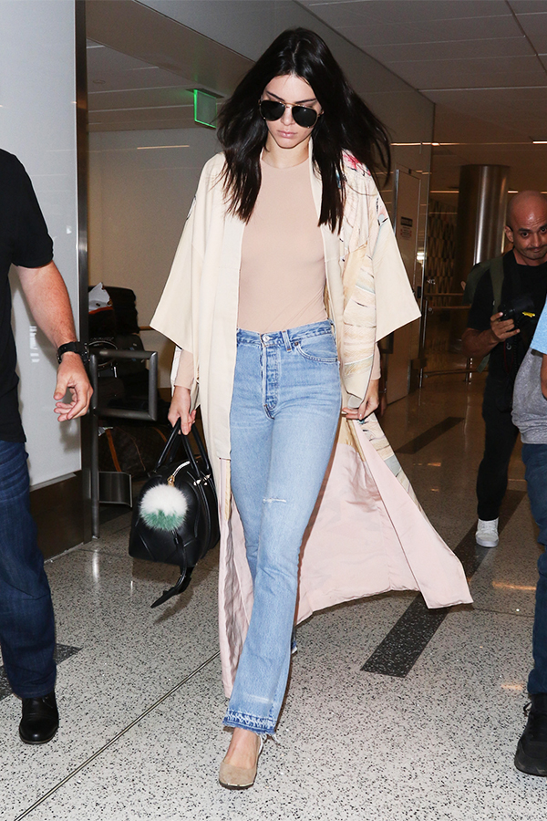 Kendall Jenner Arriving at LAX airport in Los Angeles