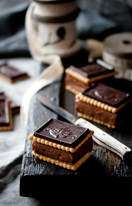 Schokoladen Cheesecake Sandwiches