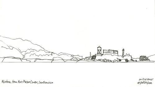 Alcatraz from Fort Mason