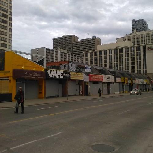 Closed for condos #toronto #yongestreet #condos