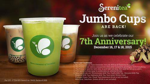 Serenitea Jumbo Cups 7th Anniversary promo