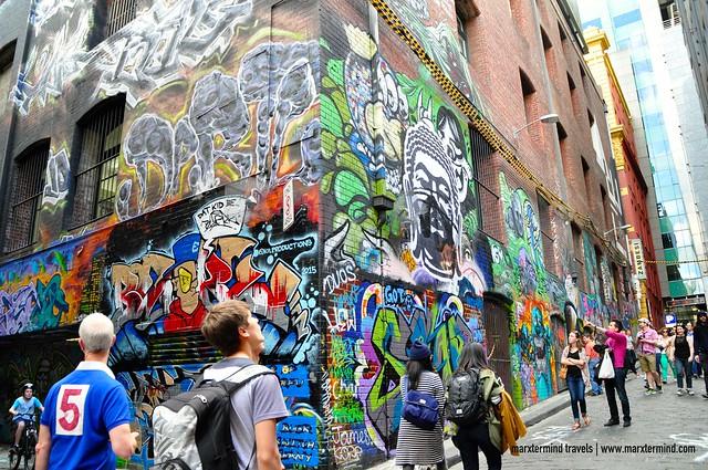 Graffiti at Hosier Lane Melbourne