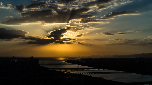 Sunset from Umeda Sky Building