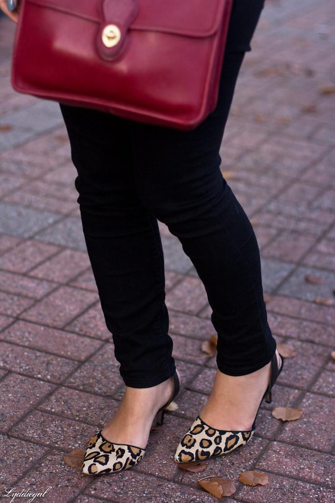 striped shirt, black jeans, leopard pumps, wool fedora-6.jpg