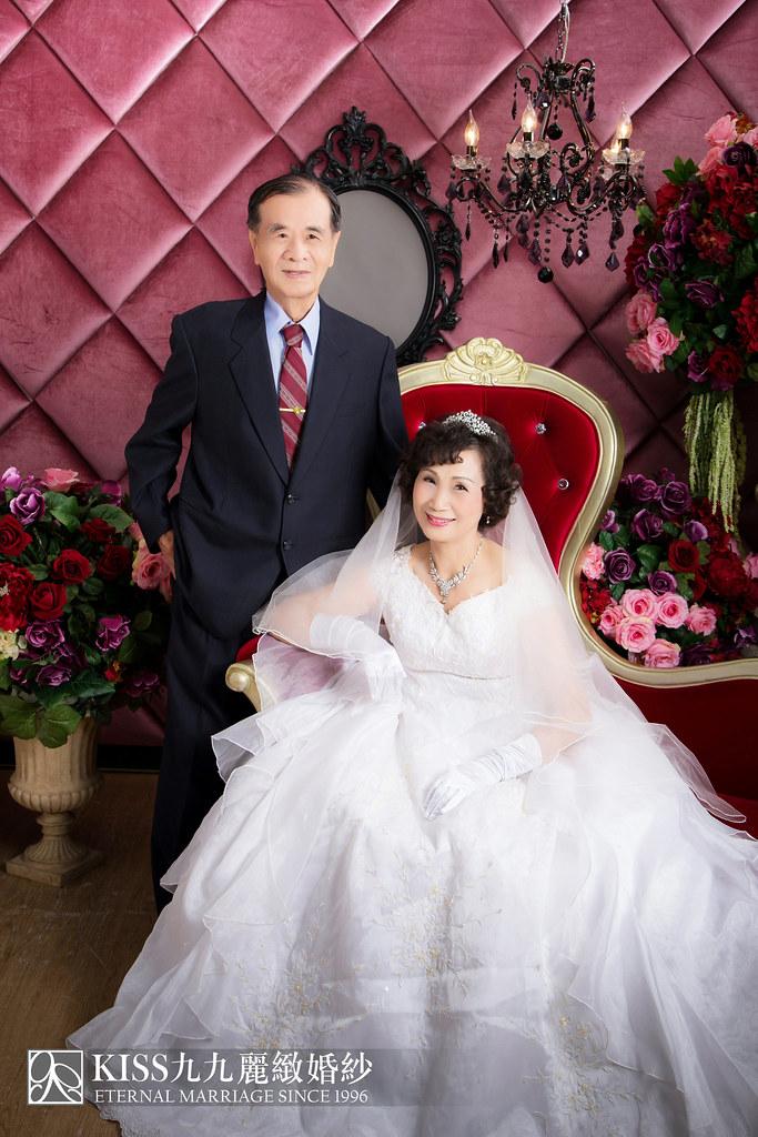 高雄週年照推薦Kiss九九麗緻婚紗 讓爸媽有個浪漫金婚週年 (4)