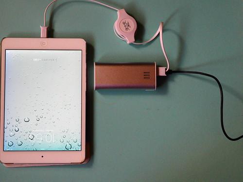 機内でのiPadの充電の仕方
