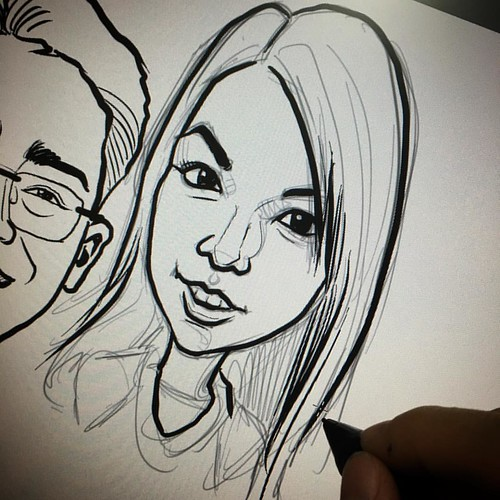 Digital makes adding additional face to a group caricatures a lot easier......
