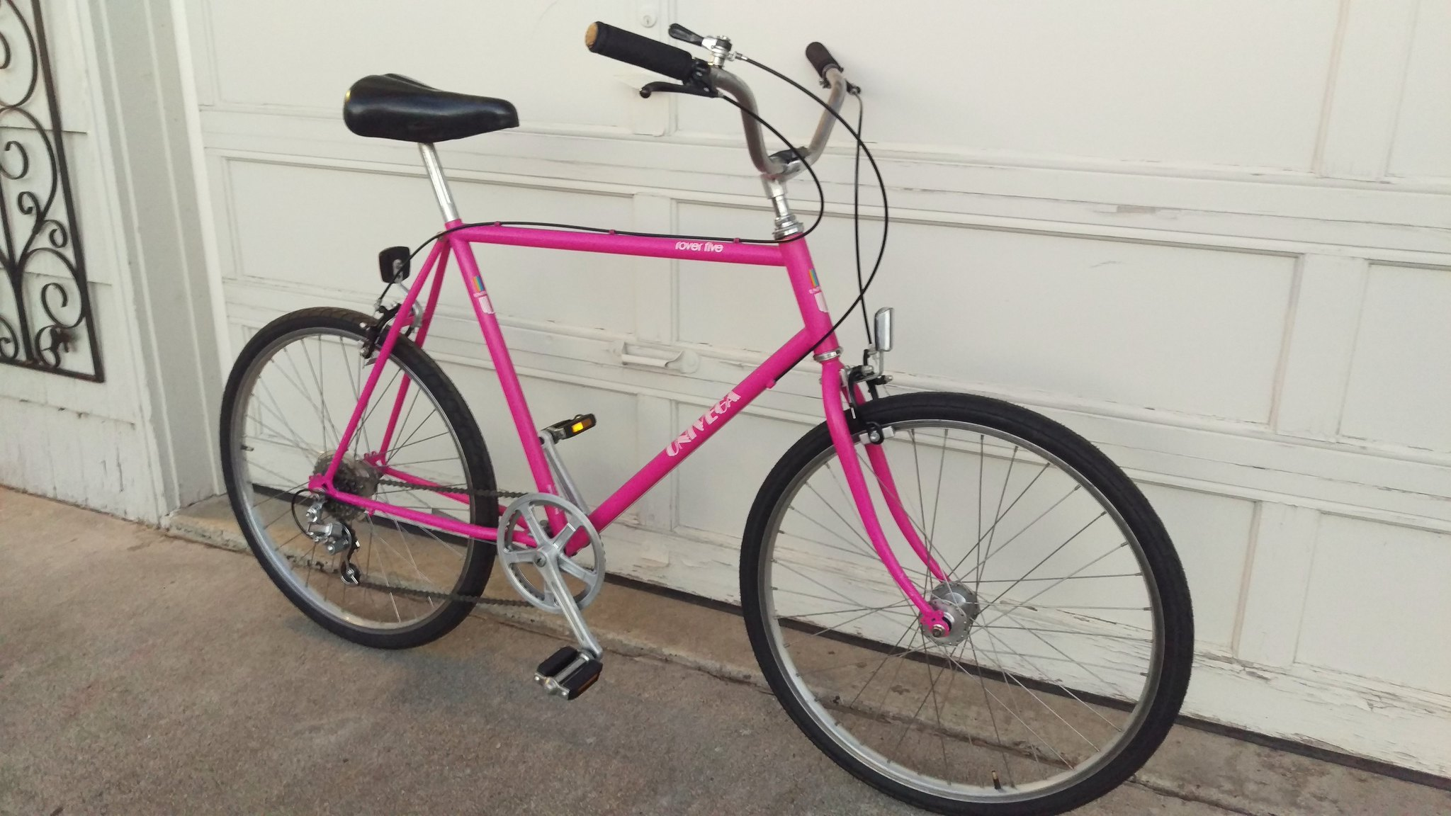 353bd095232 A pink bike thats half early MTB geometry and half beach cruiser which fits  me?!? No question, had to have it.