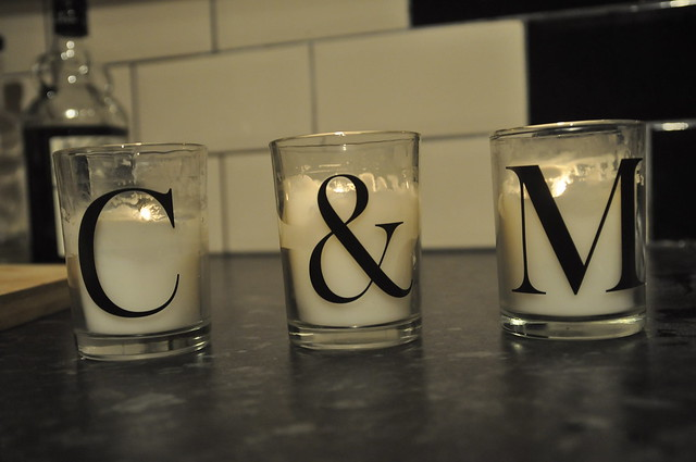 George Home Letter Votive Candles