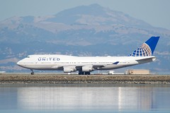 United Airlines Boeing 747 -400 DSC_0072