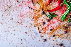 chili with rosemary spices