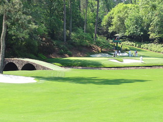 12th hole at Augusta National, The Masters golf