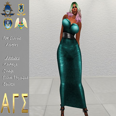 AGS INC. Womens Shiny Dress with Appliers