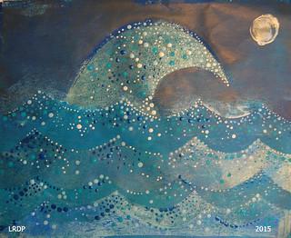 7 Hokusai - Gelli Print - Laura - Full