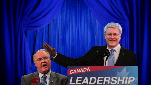 Stephen Harper and Keith Ashfield