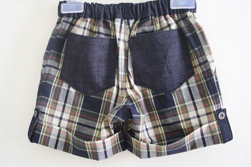 SEW - Madras Checks shorts Back