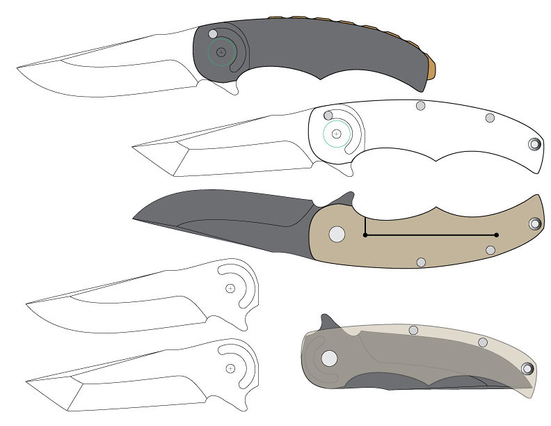 It is an image of Gratifying Printable Folding Knife Templates