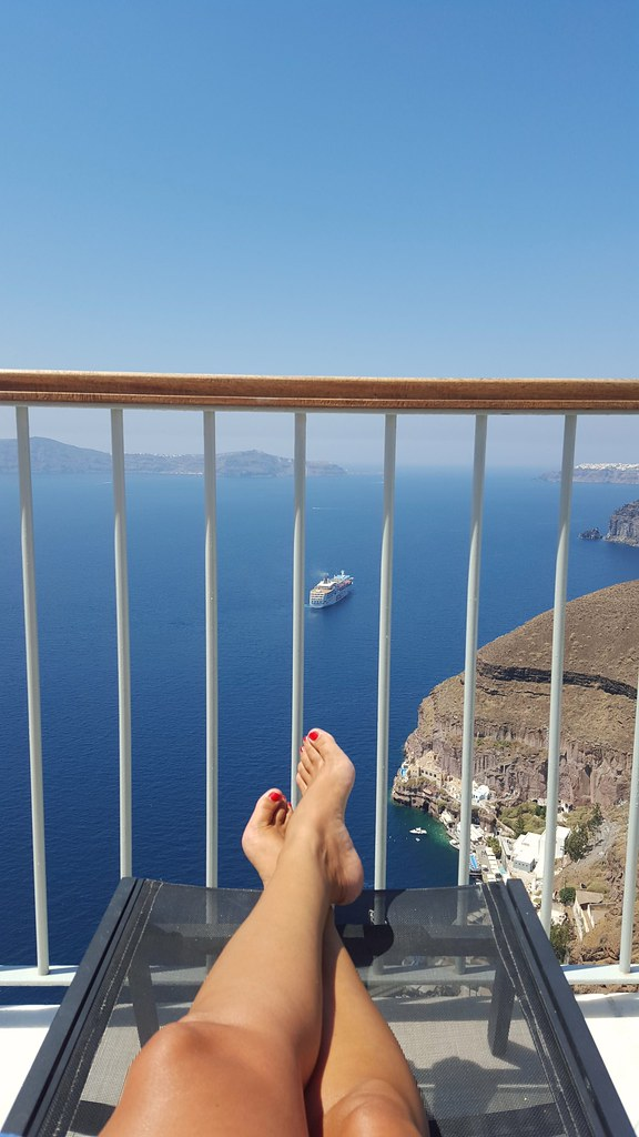 Santorini has a view
