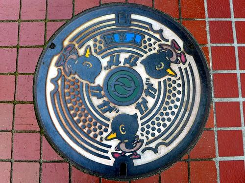Kaga Ishikawa, manhole cover 2 (石川県加賀市のマンホール2)