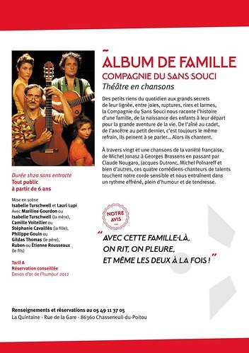LA QUINTAINE à Chasseneuil du Poitou - 2015 - THEATRE EN CHANSONS LE 12 SEPT.2015 à 20h30 : Album de famille