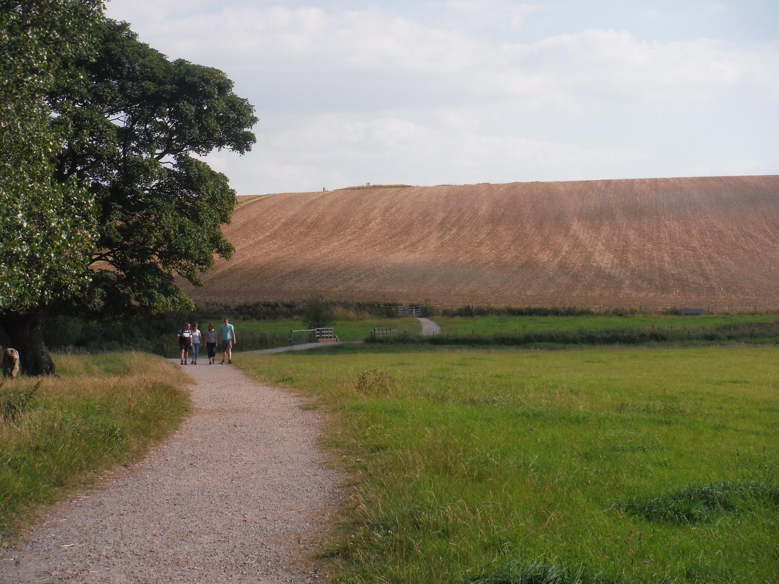 West Kennett Long Barrow on the ridge SWC Walk 255 Pewsey or Marlborough Circular via Avebury