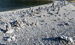 Olderfjord - stone pyramid beach