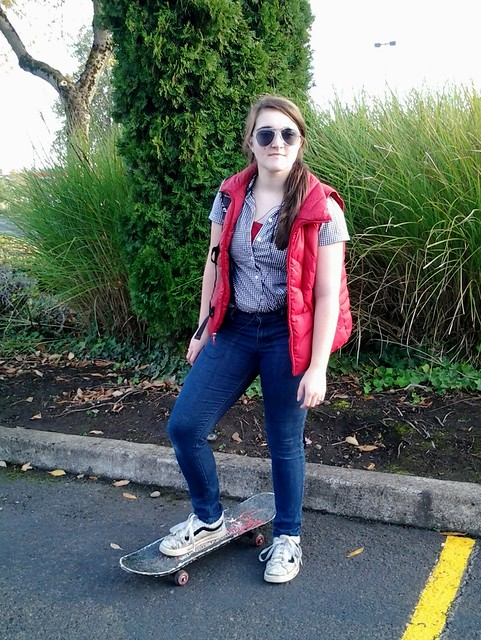 Emilie as Marty McFly