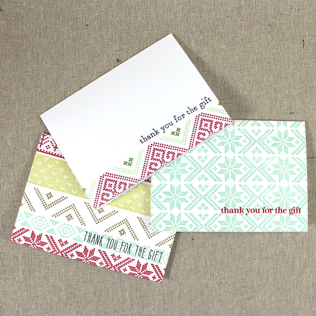 Christmas Thank You Notes 1