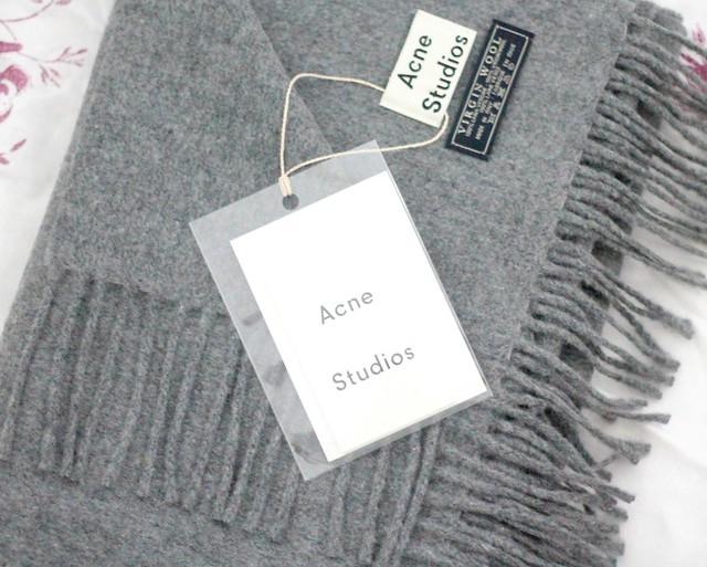 Acne Studios grey scarf